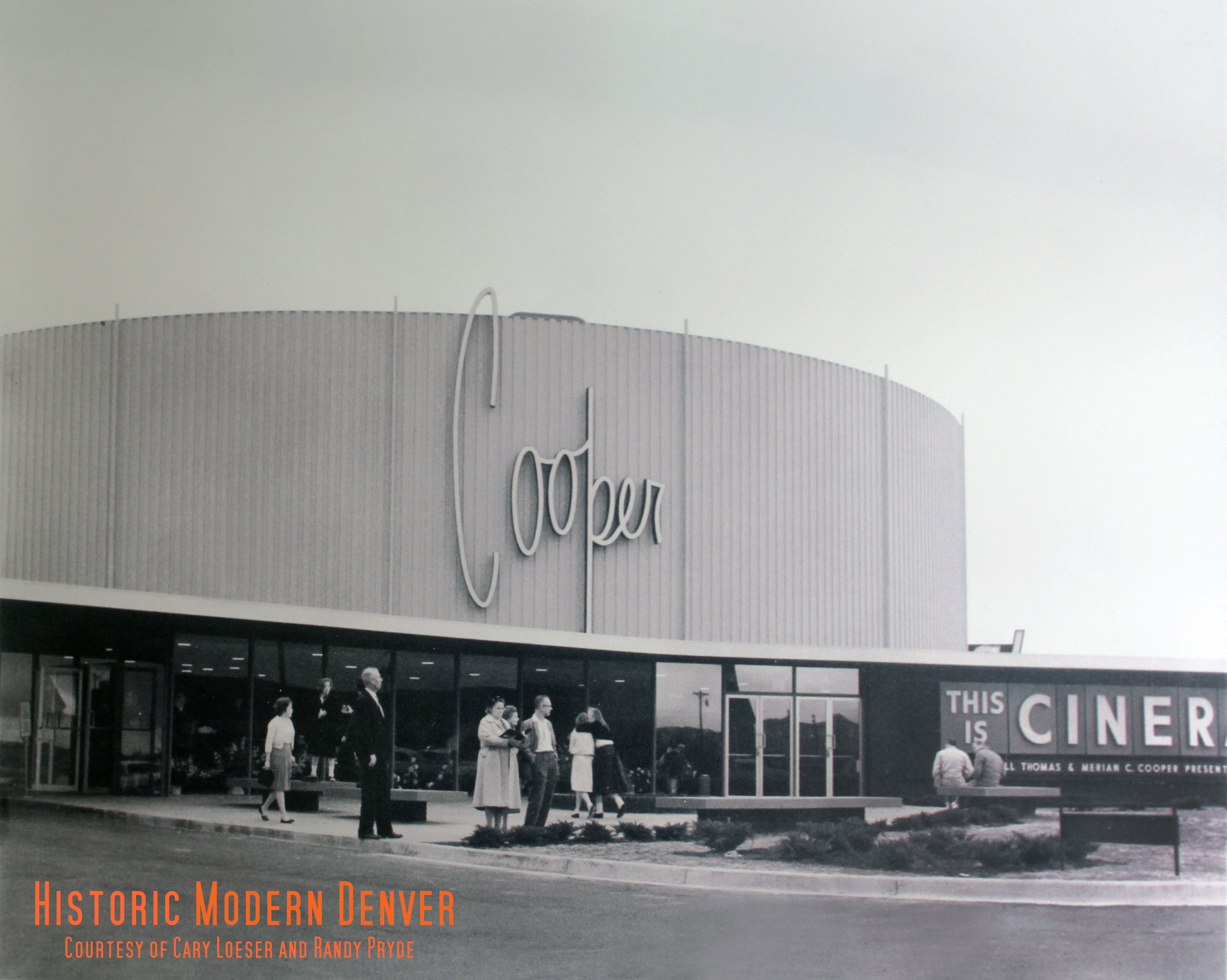 The cooper theatre of tomorrow historic modern denver a panel approximately 8 x 15 feet was set out where copy could be read easily from cars on south colorado blvd malvernweather Image collections