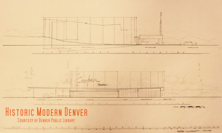 The cooper theatre of tomorrow historic modern denver elevation illustration of the proposed cooper theater intended for colorado springs malvernweather Gallery